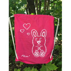 "Batůžek růžový ""Bunny love"""