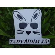 """Samolepka např. na auto """"králík šéf"""""""