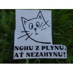 "Samolepka např. na auto ""kočka"""