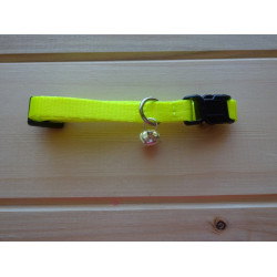 Obojek s rolničkou žlutý neon
